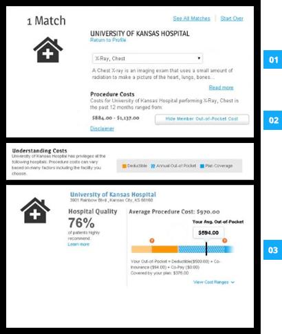 Cost for Procedure Screenshot